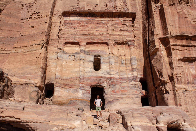 Alberto en las Ruinas de Petra.