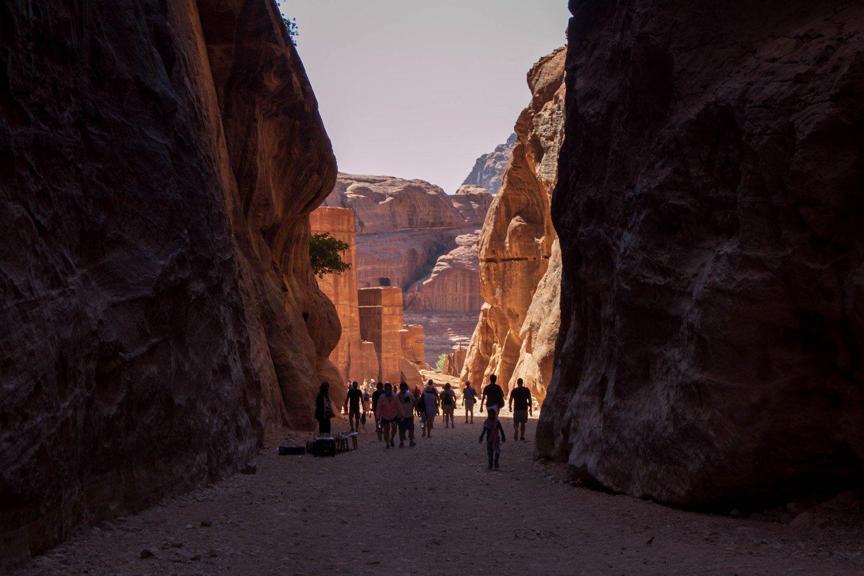 Calles en Petra, Jordania