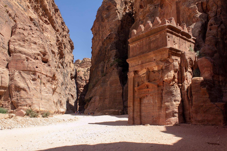 Calles en Petra, Jordania.