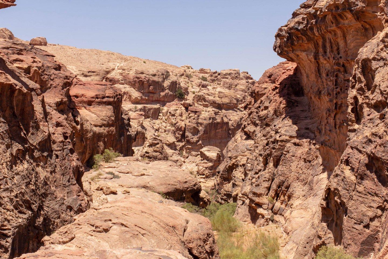 Camino superior al Tesoro, Petra.