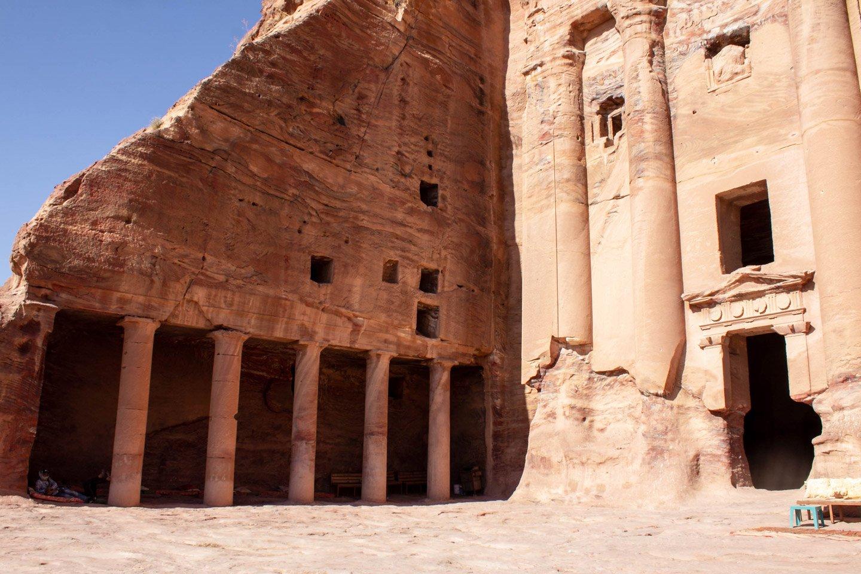 Construcciones en las Ruinas de Petra, Jordania.