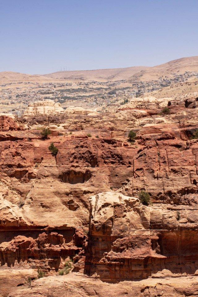 Paredes de Piedra en Petra.